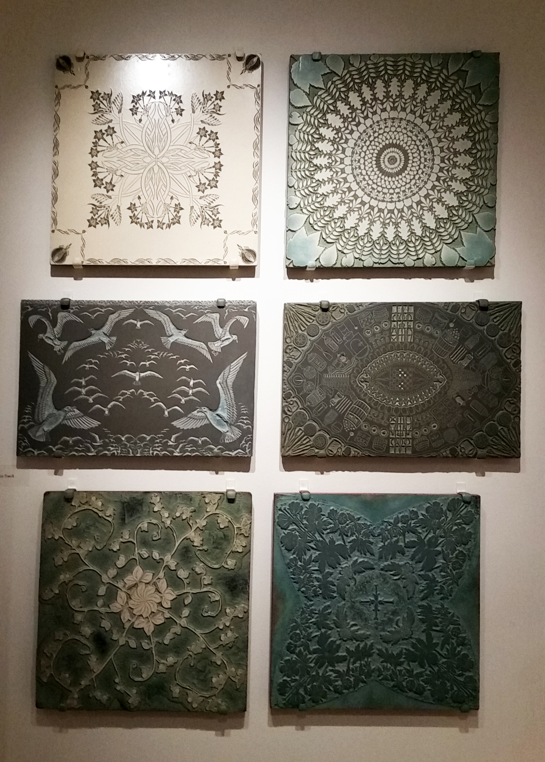 Linoleum blocks carved by the Folly Cove Designers