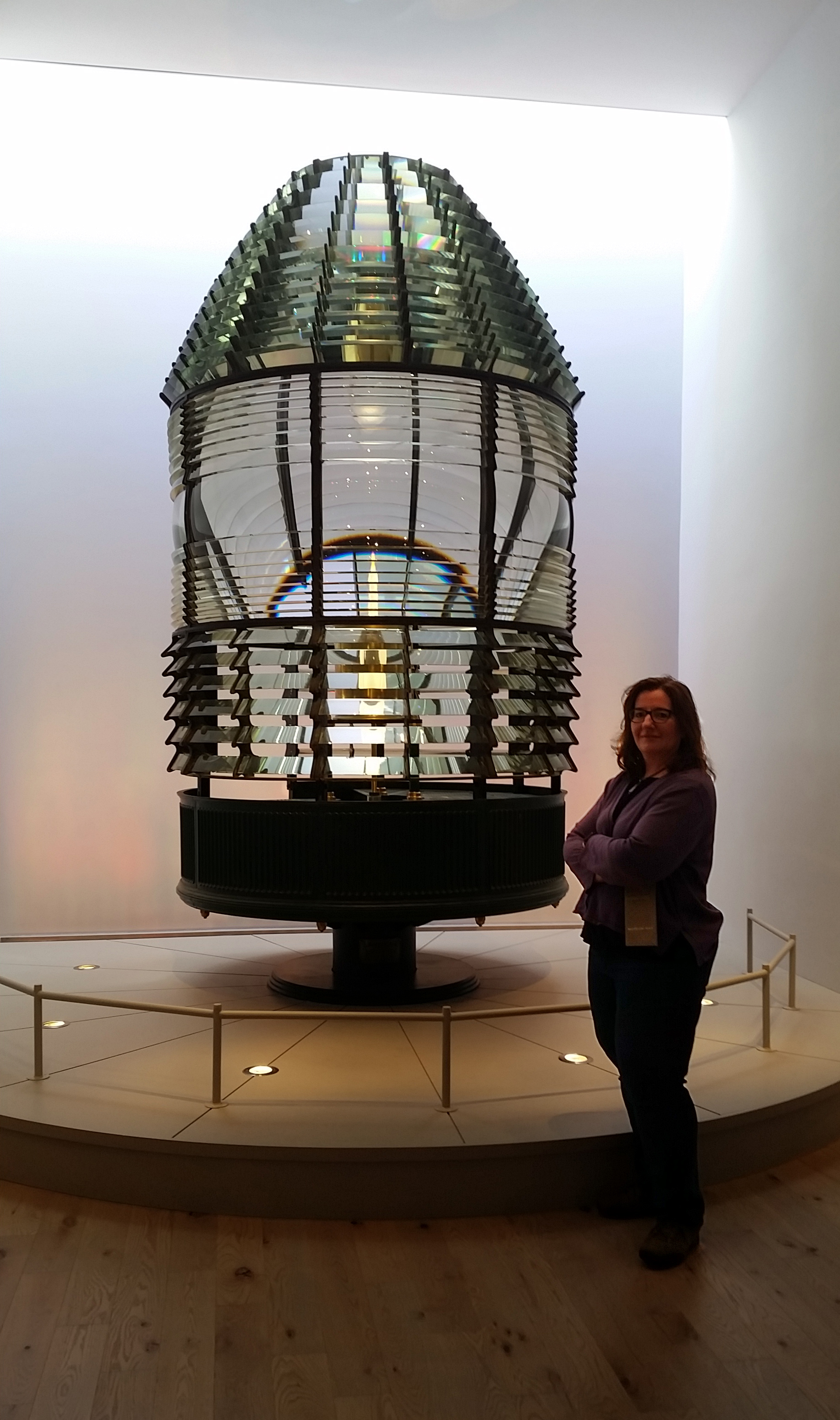 Nine-foot Fresnel Lens and Francesca