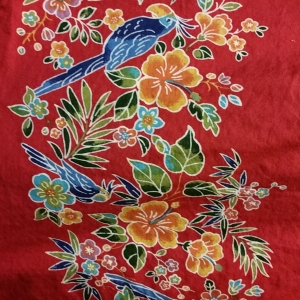 Closeup of the design on the Okinawan blouse