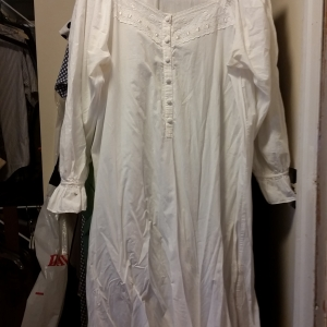 White muslin traditional nightgown